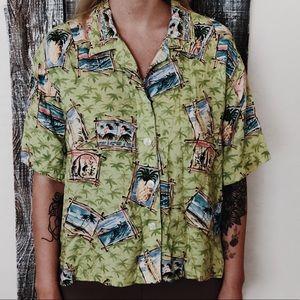 Button Up Hawaiian Shirt